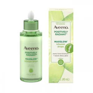 Aveeno Positively Radiant MaxGlow Infusion Drops Serum, 1.35 OZ
