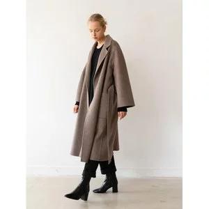 KINDERSALMON [Essential] Handmade Herringbone Coat Brown