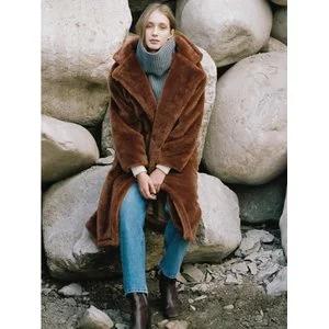 NOMINATE [Women]Fake Fur Long Coat Brown