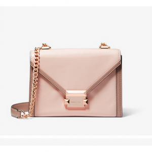 Michael Kors Whitney Small Two-Tone Leather Convertible ショルダーバッグ