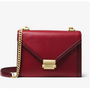 Michael Kors Whitney Large Two-Tone Leather Convertible ショルダーバッグ