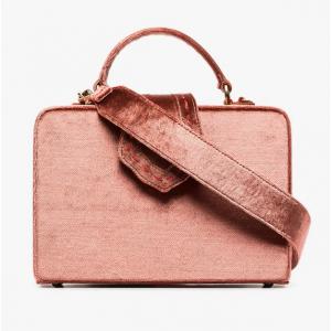 Mehry Mu Pink Fey Velvet Box Bag