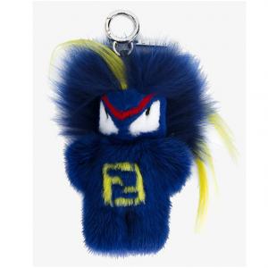 Fendi Blue Fendirumi Bug-Kun Bag Charm