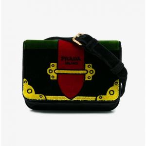 Prada Multicoloured Trompe-L'œil Small Velvet Belt Bag
