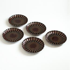 ぎやまん陶4.5寸皿5枚セット