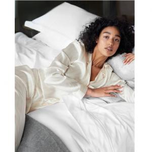 Silk Stripe Pajama Set
