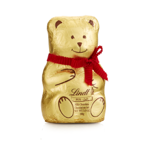 Milk Chocolate Lindt Bear Hollow Figure (3.5 oz)