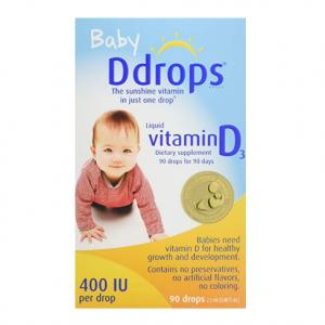 Ddrops 宝宝维生素D3增强滴剂 400 IU 90滴(2.5ml)