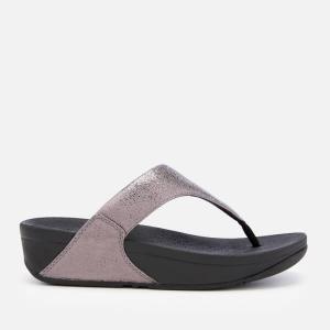 FitFlop Women's Lulu Molten Metal Toe Post Sandals