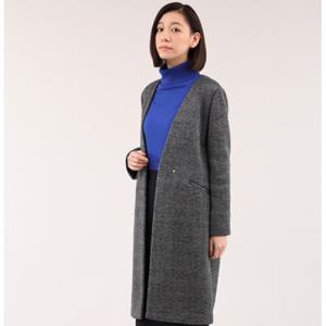 【WEB特別価格】フリースツィードカラーレスコート