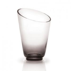 Monochrome Smoke Glass Vase