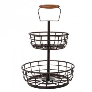 Adjustable 2 Tier Basket