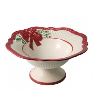 Holiday Footed Bowl