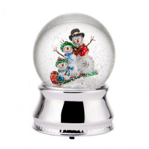 Snowman Family Water Globe