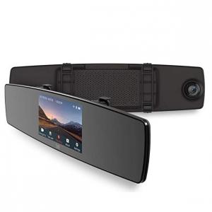 YI Mirror Dash Cam, Dual Dashboard Camera Recorder with Touch Screen @ Amazon