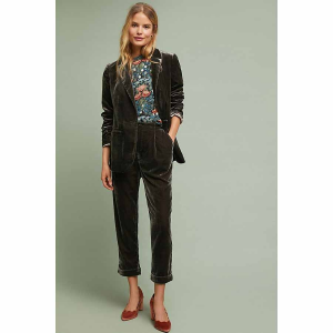 Cuffed Velvet Trousers