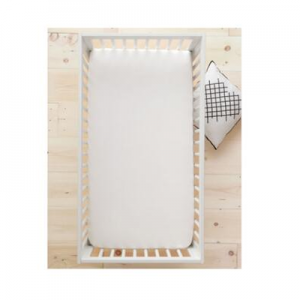 HannaSoft™ Signature White Crib Sheet