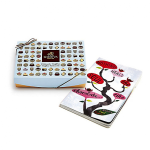 Share Save Nothing Heals the Soul Like Chocolate Journal & Dessert Patisserie Truffles Gift Box,