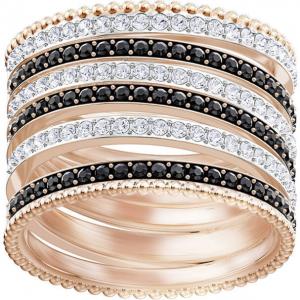 Lollypop Ring, Black, Rose Gold Plating