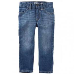 女大童直筒牛仔裤