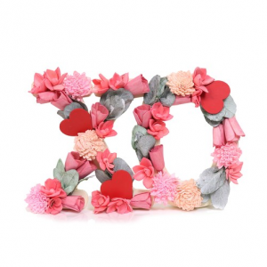 "Celebrate Valentine's Day Together Floral ""XO"" Table Decor"
