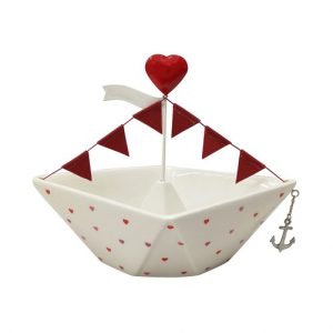 Celebrate Valentine's Day Together Love Boat Table Decor