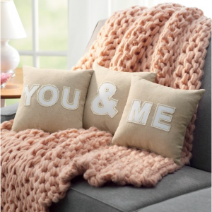 Celebrate Valentine's Day Together You & Me 3-pack Throw Pillow Set