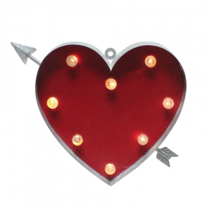 Celebrate Valentine's Day Together Light-Up Heart Marquee Wall Decor