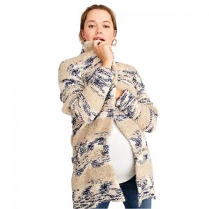 Front Pocket Chunky Maternity Cardigan