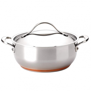 $101.01 off Anolon Nouvelle Copper Stainless Steel 4-Quart Covered Chef Casserole @ Amazon