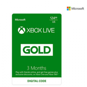 Xbox LIVE 3 Month Gold Membership US @ Newegg