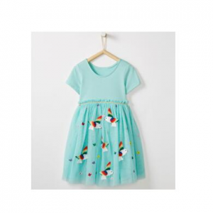 Appliqué Dress In Soft Tulle