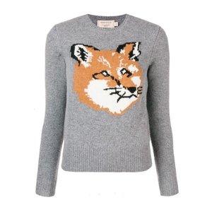 MAISON KITSUNÉ fox intarsia sweater