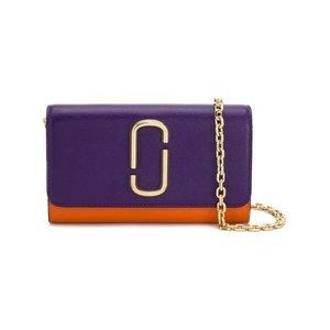 MARC JACOBS saffiano mini chain wallet
