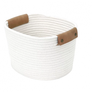 "11"" Square Base Tapered Basket Medium Cream - Threshold"