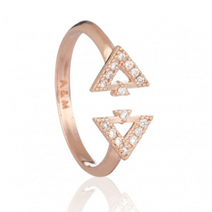 Fitzgerald triangle ring in rose gold