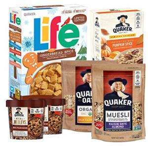 Extra 40% off 6-Pk Quaker Seasonal Breakfast Bundle w/ Oatmeal & Cereal @ Amazon