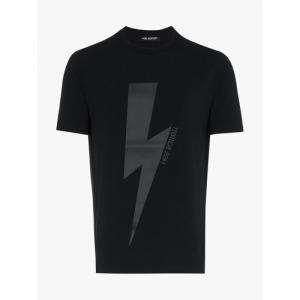 Neil Barrett Tonal Bolt Cotton-Stretch T-Shirt