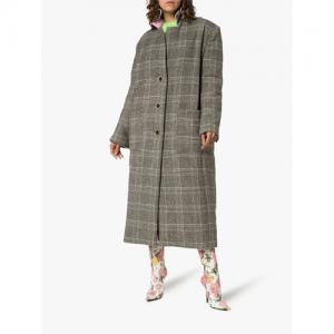 Natasha Zinko Check Print Knee Length Coat