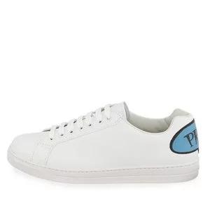 Prada Men's Avenue Bubble-Patch Leather Low-Top Sneakers