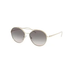 Prada Round Metal Aviator Sunglasses