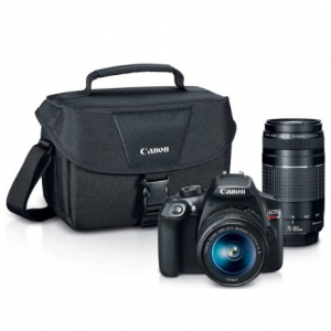 $300 off Canon EOS Rebel T6 DSLR Camera with 18-55mm and 75-300mm Lenses and Bag Bundle