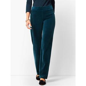 Luxe Velour Straight-Leg Pants