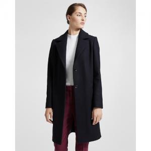 Stretch Melton Long Clairene Coat