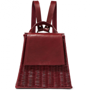 WICKER WINGS Tixting Tall rattan and leather backpack