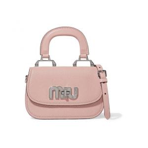 MIU MIU Mini textured-leather shoulder bag