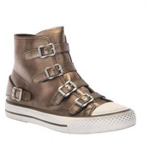 ASH Bronze Leather Virgin Buckle Sneakers