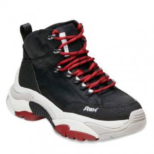 ASH Black Leather Alfa Hiking Boots