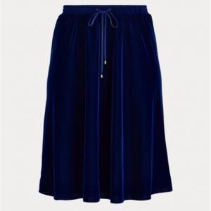 LAUREN WOMAN Velvet A-Line Skirt
