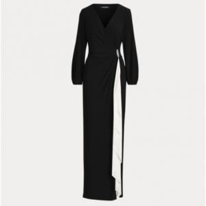 LAUREN Brooch Jersey Gown